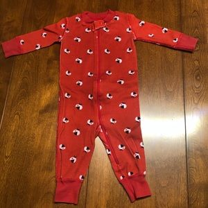 Hanna Andersson 3 - 6 mo Red Footie 100% cotton